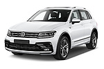 2019 Volkswagen Tiguan Highline 5 Door SUV angular front stock photos of front three quarter view