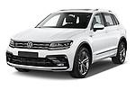 2019 Volkswagen Tiguan Highline 5 Door SUV angular front stock photos of front three quarter view