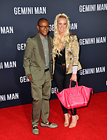 "LOS ANGELES, USA. October 07, 2019: Tommy Davidson & Amanda Moore at the premiere of ""Gemini Man"" at the TCL Chinese Theatre, Hollywood.<br /> Picture: Paul Smith/Featureflash"