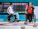 Sochi, RUSSIA - Mar 10 2014 -  Jim Armstrong during Canada vs Norway in Wheelchair Curling round robin play at the 2014 Paralympic Winter Games in Sochi, Russia.  (Photo: Matthew Murnaghan/Canadian Paralympic Committee)