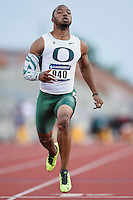 Tony Brooks-James of Oregon competes in 100 meter prelims during West Preliminary Track and Field Championships, Friday, May 29, 2015 in Austin, Tex. (Mo Khursheed/TFV Media via AP Images)