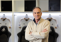 Pictured: Francesco Guidolin at the Liberty Stadium Monday 18 January 2016<br /> Re: Swansea have appointed former Udinese manager Francesco Guidolin as their new head coach.<br /> The Italian will work alongside Alan Curtis until the end of the season.<br /> Guidolin, 60, has previously managed several clubs in Italy, including Palermo and Parma, as well as French league side Monaco.