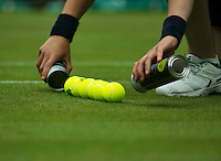 England, London, 26.06.2014. Tennis, Wimbledon, AELTC, New Balls<br /> Photo: Tennisimages/Henk Koster