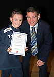 St Johnstone FC Academy Awards Night...06.04.15  Perth Concert Hall<br /> Chairman Steve Brown presents a certificate to Kayden Alexander<br /> Picture by Graeme Hart.<br /> Copyright Perthshire Picture Agency<br /> Tel: 01738 623350  Mobile: 07990 594431