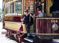 The National Tramway Museum at Crich Tramway Village, Crich, near Matlock, Derbyshire,UK on August 20th 2020.<br /> <br /> Photo by Keith Mayhew