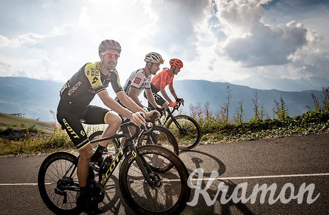 Luka Mezgec (SLO/Mitchelton Scott) up the finish climb & the highest peak of the 2020 #TdF: the Col de la Loze (HC/2304m/21,5km @7,8%)<br /> <br /> Stage 17 from Grenoble to Méribel - Col de la Loze (170km)<br /> <br /> 107th Tour de France 2020 (2.UWT)<br /> (the 'postponed edition' held in september)<br /> <br /> ©kramon