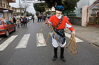 Mamuthones is a solemn ceremonial, an orderly procession and dance at the same time.