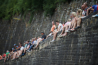 fans await the riders up the Citadel de Namur<br /> <br /> stage 4: Seraing (BEL) - Cambrai (FR) <br /> 2015 Tour de France