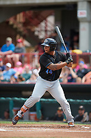 Akron RubberDucks first baseman Bobby Bradley (44) at bat during a game against the Erie SeaWolves on August 27, 2017 at UPMC Park in Erie, Pennsylvania.  Akron defeated Erie 6-4.  (Mike Janes/Four Seam Images)