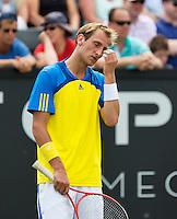 17-06-13, Netherlands, Rosmalen,  Autotron, Tennis, Topshelf Open 2013, ,  Thiemo de Bakker is frustrated<br /> Photo: Henk Koster