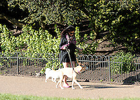 May 2nd, 2013 - London..Jenna Dewan-Tatum walks her dogs in the park whilst her Husband Channing Tatum films nearby...****** BYLINE MUST READ : © Spread Pictures ******..****** No Web Usage before agreement ******..****** Stricly No Mobile Phone Application or Apps use without our Prior Agreement ******..Enquiries at photo@spreadpictures.com
