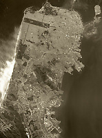 historical aerial photograph of San Francisco, California, 1972