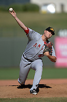 Mesa Solar Sox pitcher Mike Morin (44), of the Los Angeles Angels of Anaheim organization, during an Arizona Fall League game against the Peoria Javelinas on October 16, 2013 at Surprise Stadium in Surprise, Arizona.  Mesa defeated Peoria 3-1.  (Mike Janes/Four Seam Images)