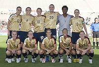 USA Starting Eleven.International friendly, USA Women vs Mexico, Albuquerque, NM,.October 20, 2006.