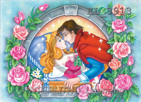 Interlitho, Nino, CUTE ANIMALS, puzzle, paintings, sleep.beauty, prince(KL3913,#AC#) illustrations, pinturas, rompe cabeza