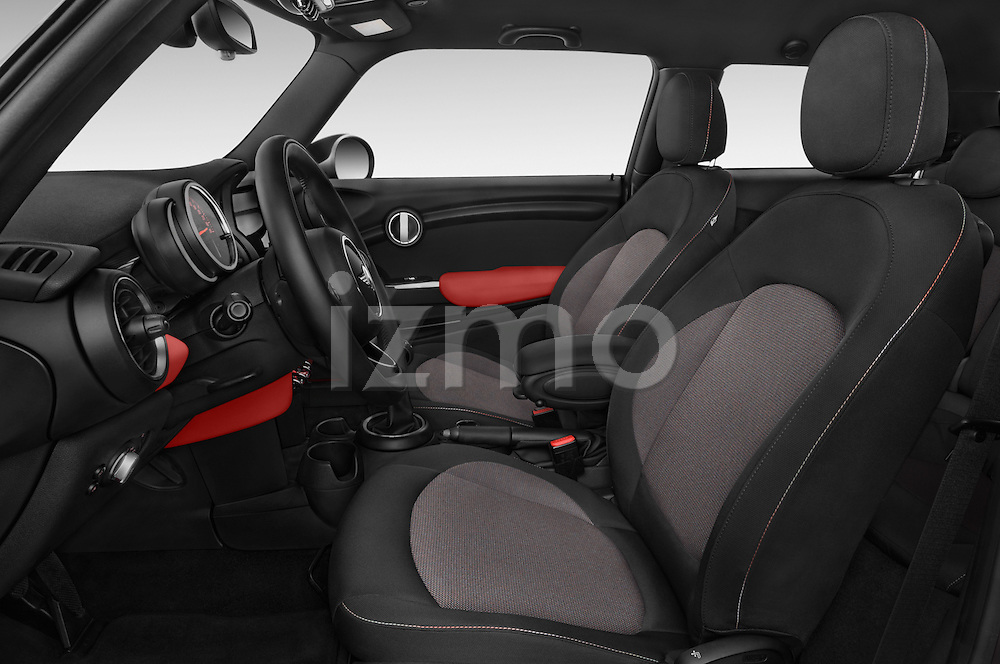 Front seat view of a 2015 MINI MINI Cooper 3 Door Hatchback Front Seat car photos