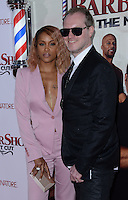 Eve + husband Maximillion Cooper @ the premiere of 'Barber Shop The Next Cut' held @ the Chinese theatre.<br /> April 6, 2016