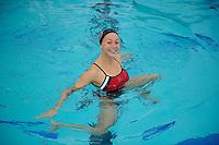 Liane Lovitt of the 2010 Stanford Synchronized Swimming team.