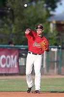 Brandon Drury #3 of the Visalia Rawhide during a game against the Stockton Ports at Rawhide Ballpark on May 5, 2014 in Visalia California. Visalia defeated Stockton, 8-6. (Larry Goren/Four Seam Images)