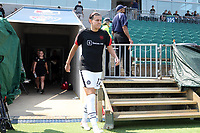 CARY, NC - SEPTEMBER 12: Christine Sinclair #12 of the Portland Thorns FC takes the field before a game between Portland Thorns FC and North Carolina Courage at Sahlen's Stadium at WakeMed Soccer Park on September 12, 2021 in Cary, North Carolina.