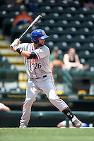 St. Lucie Mets catcher Colton Plaia (26) at bat during a game against the Bradenton Marauders on April 12, 2015 at McKechnie Field in Bradenton, Florida.  Bradenton defeated St. Lucie 7-5.  (Mike Janes/Four Seam Images)