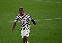 Football: Uefa Europa League - semifinal 2nd leg AS Roma vs Manchester United Olympic Stadium. Rome, Italy, May 6, 2021.<br /> Manchester United's Paul Pogba reacts during the Europa League football match between Roma and Manchester United at Rome's Olympic stadium, Rome, on May 6, 2021.  <br /> UPDATE IMAGES PRESS/Isabella Bonotto