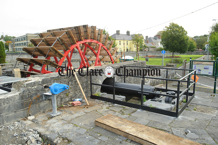 A general view of the Mill Wheel in Ennis which is currently under restoration. Photograph by John Kelly.
