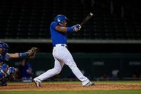 AZL Cubs 1 Ervis Marchan (21) at bat during an Arizona League game against the AZL Royals on June 30, 2019 at Sloan Park in Mesa, Arizona. AZL Royals defeated the AZL Cubs 1 9-5. (Zachary Lucy/Four Seam Images)