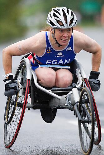 11 SEP 2010 - BUDAPEST, HUN - Jane Egan (GBR) - 2010 ITU World Paratriathlon Championships (PHOTO (C) NIGEL FARROW)