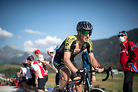 Daryl Impey (ZAF/Mitchelton-Scott) at the gravel section atop the Montée du plateau des Glières (HC/1390m)<br /> <br /> Stage 18 from Méribel to La Roche-sur-Foron (175km)<br /> <br /> 107th Tour de France 2020 (2.UWT)<br /> (the 'postponed edition' held in september)<br /> <br /> ©kramon