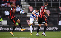17th October 2020; Vitality Stadium, Bournemouth, Dorset, England; English Football League Championship Football, Bournemouth Athletic versus Queens Park Rangers; Macauley Bonne of Queens Park Rangers shoots at goal