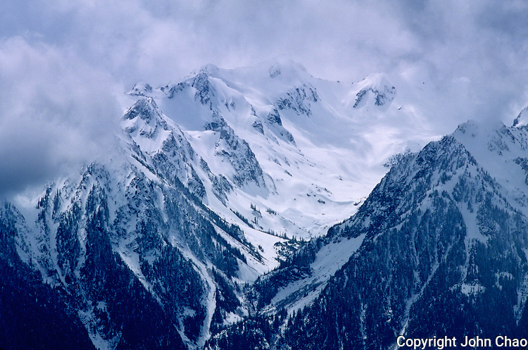 Winter view of the Bailey Range from Hurricane Ridge, Olympic National Park, Washington State