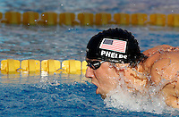 U.S. Michael Phelps swims to set the new world record clocking 1:52.03 n the Men's 200m Butterfly, at the Swimming World Championships in Rome, 29 July 2009..UPDATE IMAGES PRESS/Riccardo De Luca