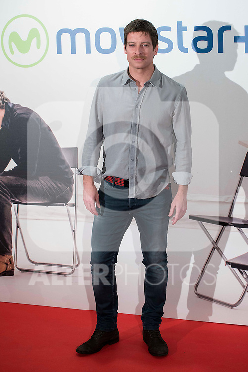 """Manuel Baqueiro attends to the premire of the film """"Que fue de Jorge Sanz"""" at Cinesa Proyecciones in Madrid. February 10, 2016."""
