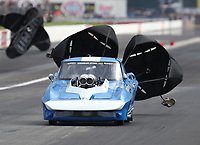Aug 31, 2019; Clermont, IN, USA; NHRA pro mod driver XXXX during qualifying for the US Nationals at Lucas Oil Raceway. Mandatory Credit: Mark J. Rebilas-USA TODAY Sports