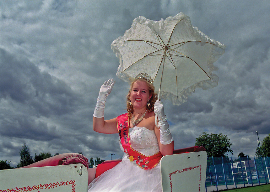 """Queen of the London Borough Enfield, Elaine Whyte. <br /> <br /> """"I am 28 and have lived down Green Street all my life. Every year as a child, me and my siblings would be excited to watch the carnival go past out road and see the carnival queen and all the floats. It would usually take between 20-30 minutes for the whole parade go past. This year, we didnít even realise it was going past till we heard the loud music whilst sat in the garden. We quickly walked down to see and all there was were three cars. The carnival queen and princesses all looked miserable and the lady who took our change was dressed like a seductive police woman! I couldn't believe it and how times have changed."""""""
