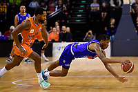 Kerwin Roach of the Wellington Saints during the round two NBL match between the Wellington Saints and the Southland Sharks at TSB Bank Arena, Wellington, New Zealand on Friday 7 May 2021.<br /> Photo by Masanori Udagawa. <br /> www.photowellington.photoshelter.com