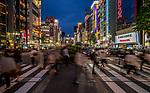 Crossing at main intersection in Shinjuku, Tokyo, Japan