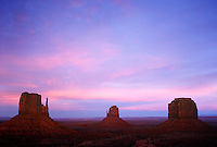 West Mitten Butte, East Mitten Butte and Merrick Buttes, Monument Valley Navajo Tribal Park, Arizona, Utah