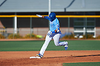 AZL Royals Edickson Soto (19) rounds the bases after hitting a grand slam during an Arizona League game against the AZL Brewers Blue at Surprise Stadium on June 18, 2019 in Surprise, Arizona. AZL Royals defeated AZL Brewers Blue 12-7. (Zachary Lucy/Four Seam Images)