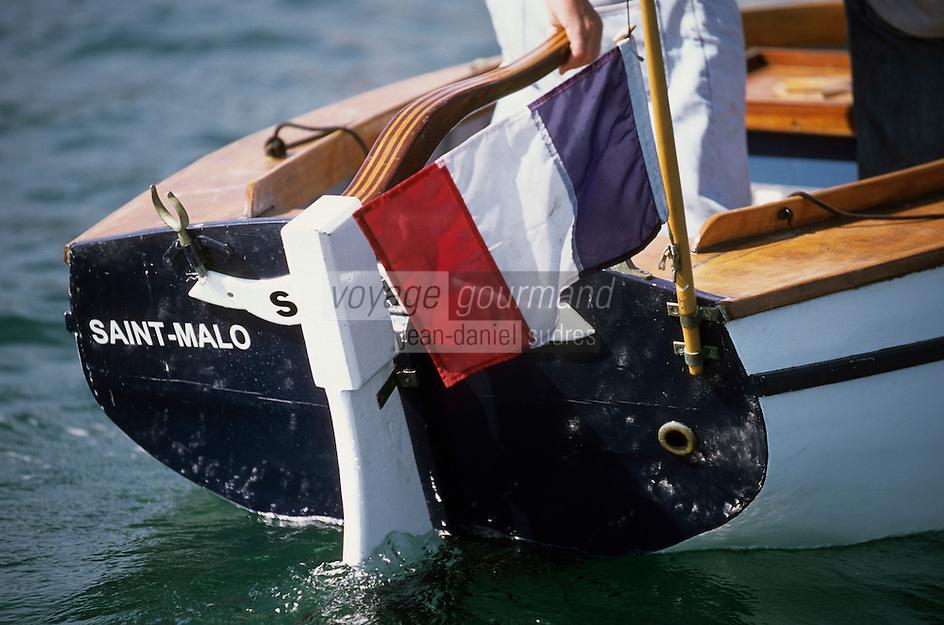 Europe/France/Bretagne/Ille et Vilaine/St Malo: détail vieux grément lors de la fète des doris sur la Rance