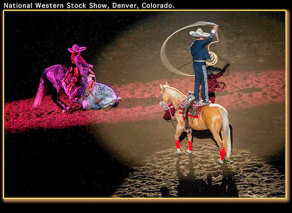 Assignment. Equestrian performers, National Western Stock Show, Denver, Colorado. .  John offers private photo tours in Denver, Boulder and throughout Colorado. Year-round.