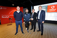Pictured L-R: Steve Cooper, Leon Britton. Kevin Johns and Trevor Birch.  Thursday 17 October 2019<br /> Re: Swansea City AFC, City Business Network event at the Liberty Stadium, Wales, UK.