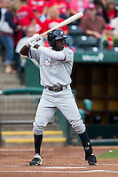 Orlando Calixte (2) of the Northwest Arkansas Naturals at bat during a game against the Springfield Cardinals at Hammons Field on July 28, 2013 in Springfield, Missouri. (David Welker/Four Seam Images)
