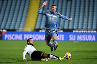 Claudio Terzi of Spezia Calcio and Robin Gosens of Atalanta BC during the Serie A football match between Spezia Calcio and Atalanta BC at Dino Manuzzi stadium in Cesena (Italy), November 20th, 2020. Photo Andrea Staccioli / Insidefoto