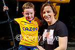 Fionn Murphy and Samantha Williams in the playground in the Killarney National Park on Sunday.