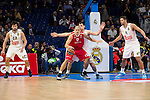 Real Madrid and Crvena Zvezda Telekom during Euroligue Basketball at Barclaycard Center in Madrid, October 22, 2015<br /> Maciulis and Guduric.<br /> (ALTERPHOTOS/BorjaB.Hojas)