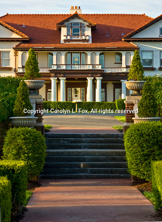 Longview Mansion, an old, historic mansion, stands on the Longview Farms property in Lee's Summit, Missouri.