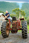 Dave Seeling fixing tractor light