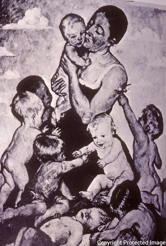 "Nazi Art:  ""Motherliness"". Heinrich Edward Linde-Walther.  ART IN THE THIRD REICH, Berthold Hinz.  Reference only."